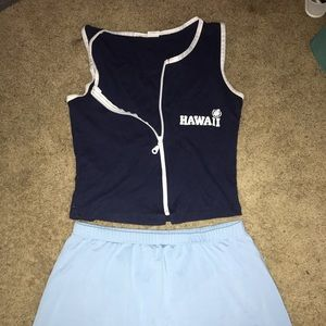 Hawaii shirt and skirt set
